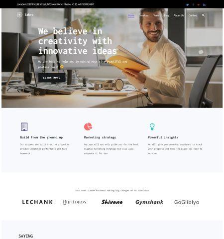 Best free WordPress themes: zakra