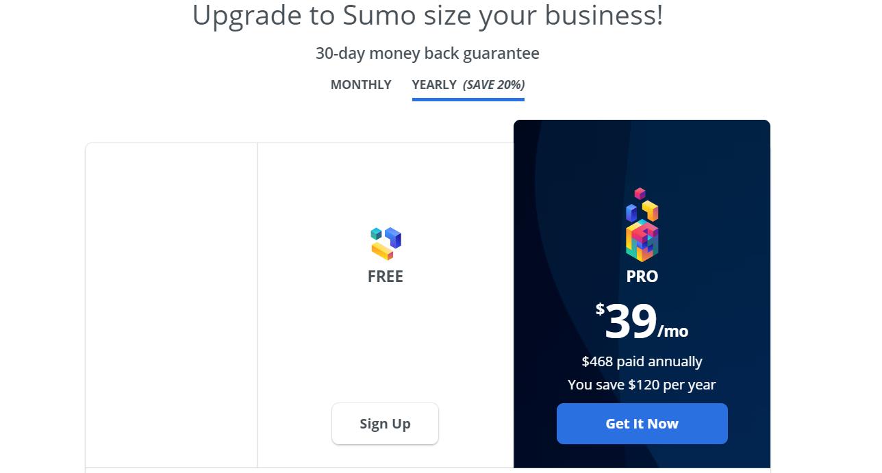 sumo pricing