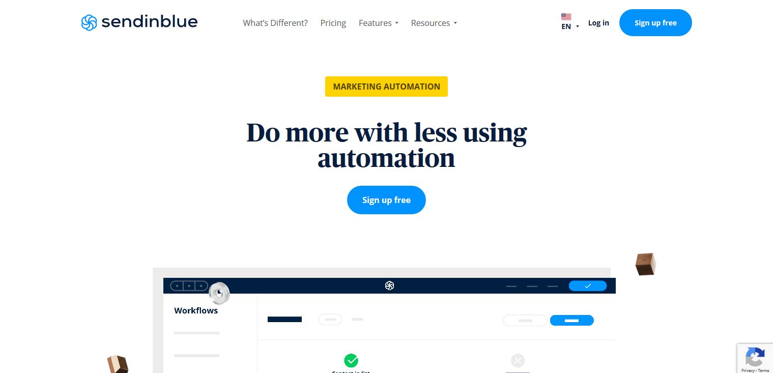 Sendinblue email automation