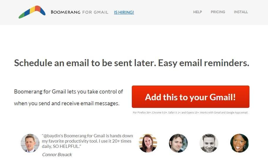 Boomerang Gmail app
