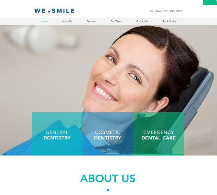 Wix templates: Dentist