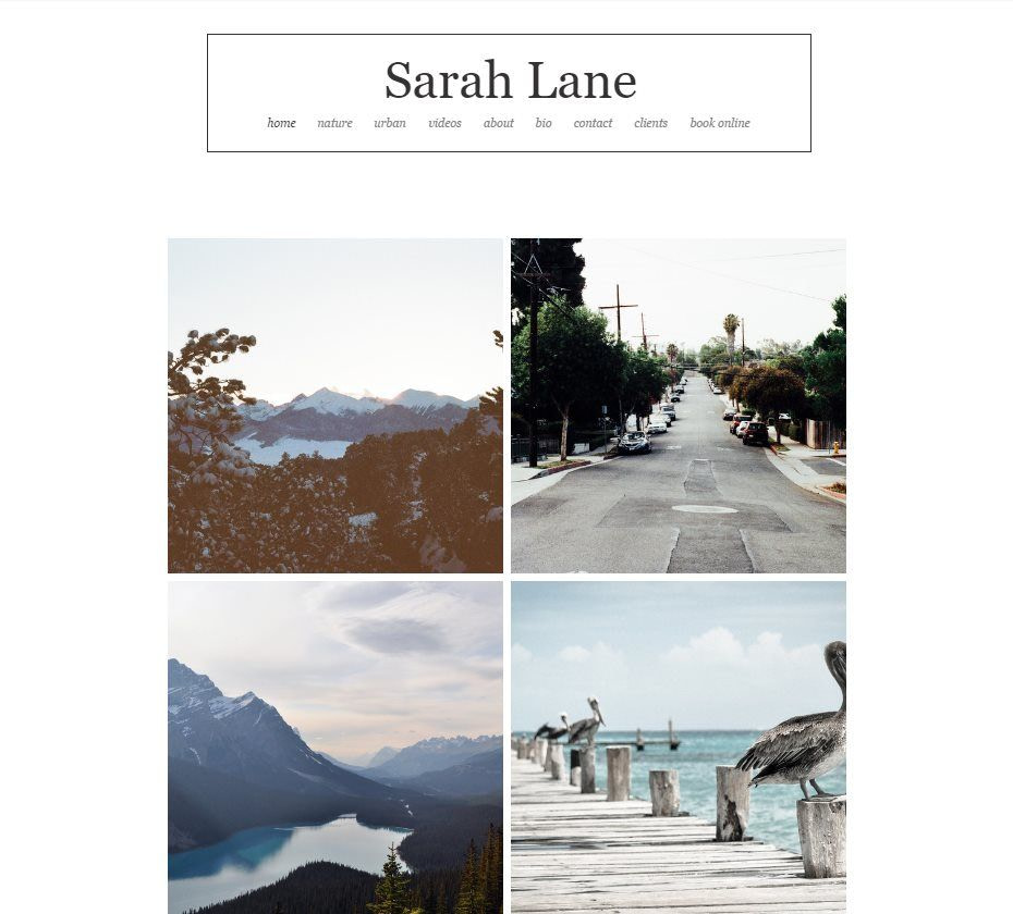 Wix templates: Outdoor Photography