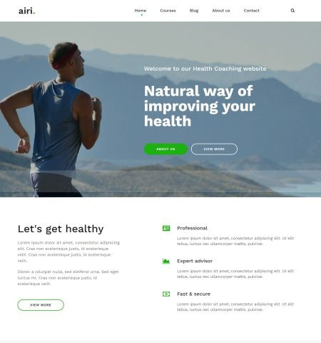Best Fitness and Lifestyle WordPress Themes: Airi