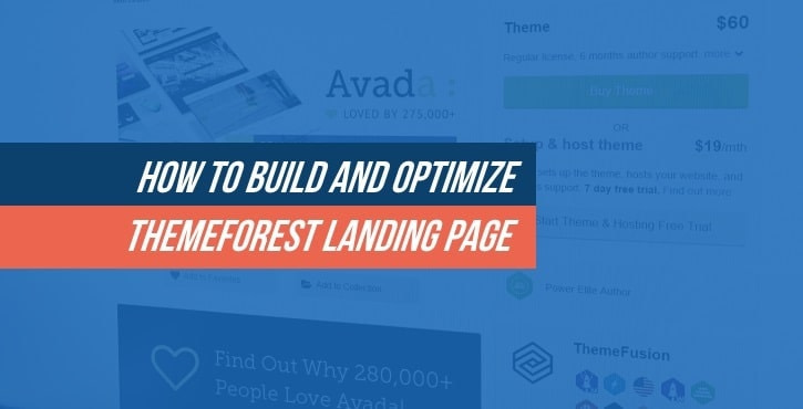 Optimize ThemeForest Landing Page
