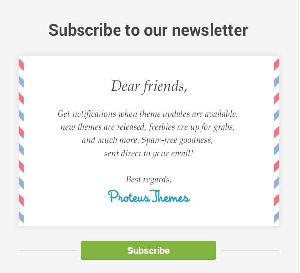 Proteus Themes Subscribe