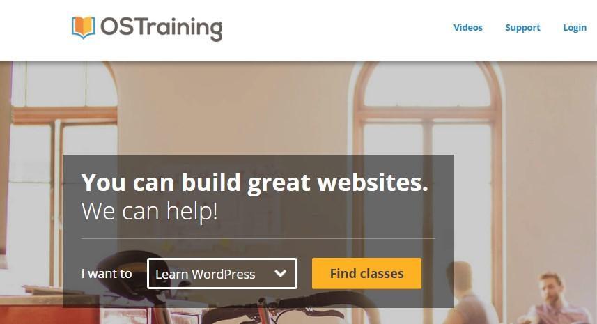 ostraining homepage
