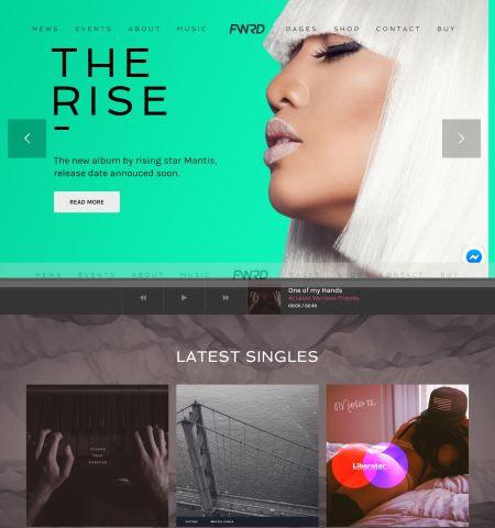 Best music WordPress themes: FWRD