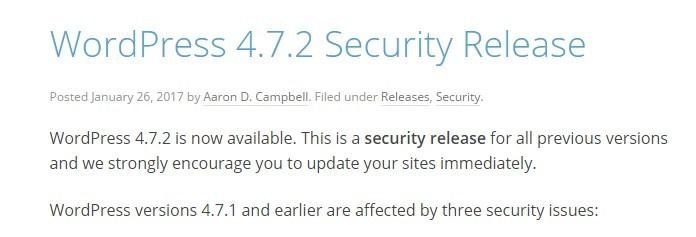 wordpress 4.7.2 release