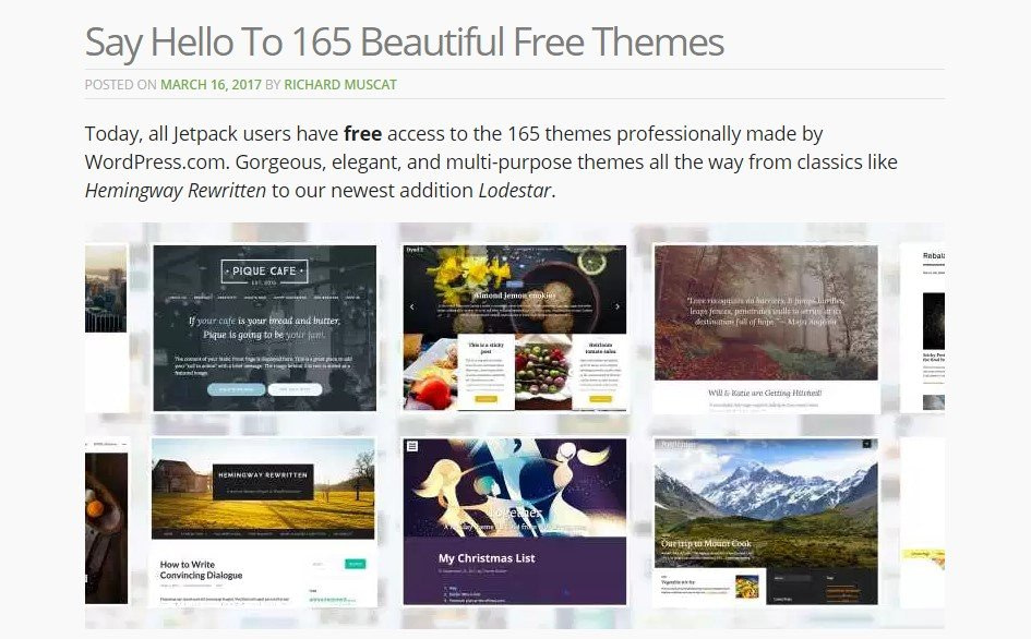 Jetpack Introduces Theme Installation