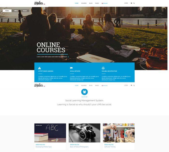 Best education WordPress themes: WPLMS