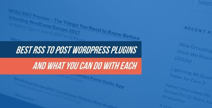 Best RSS to Post WordPress Plugins
