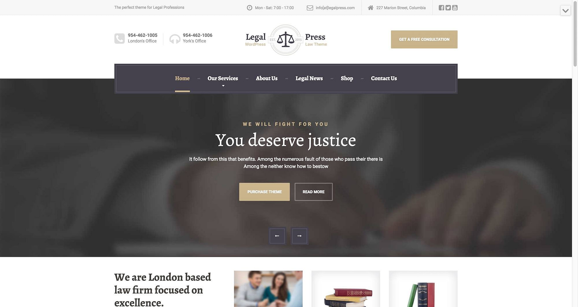 LegalPress theme