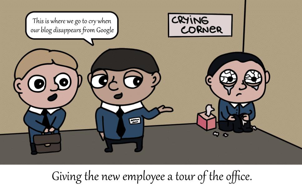 comic strip: blog gone