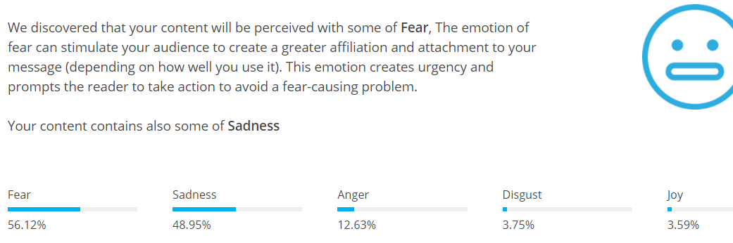 Our fear test results.