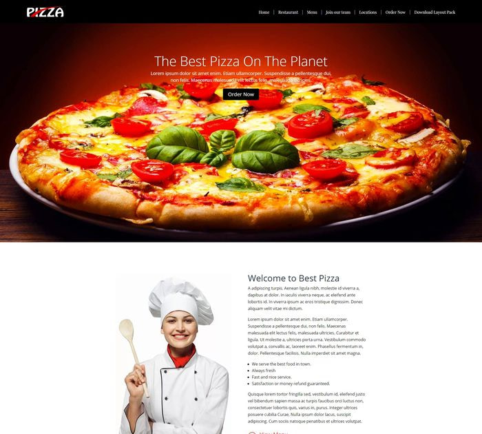 pizza restaurant layout pack