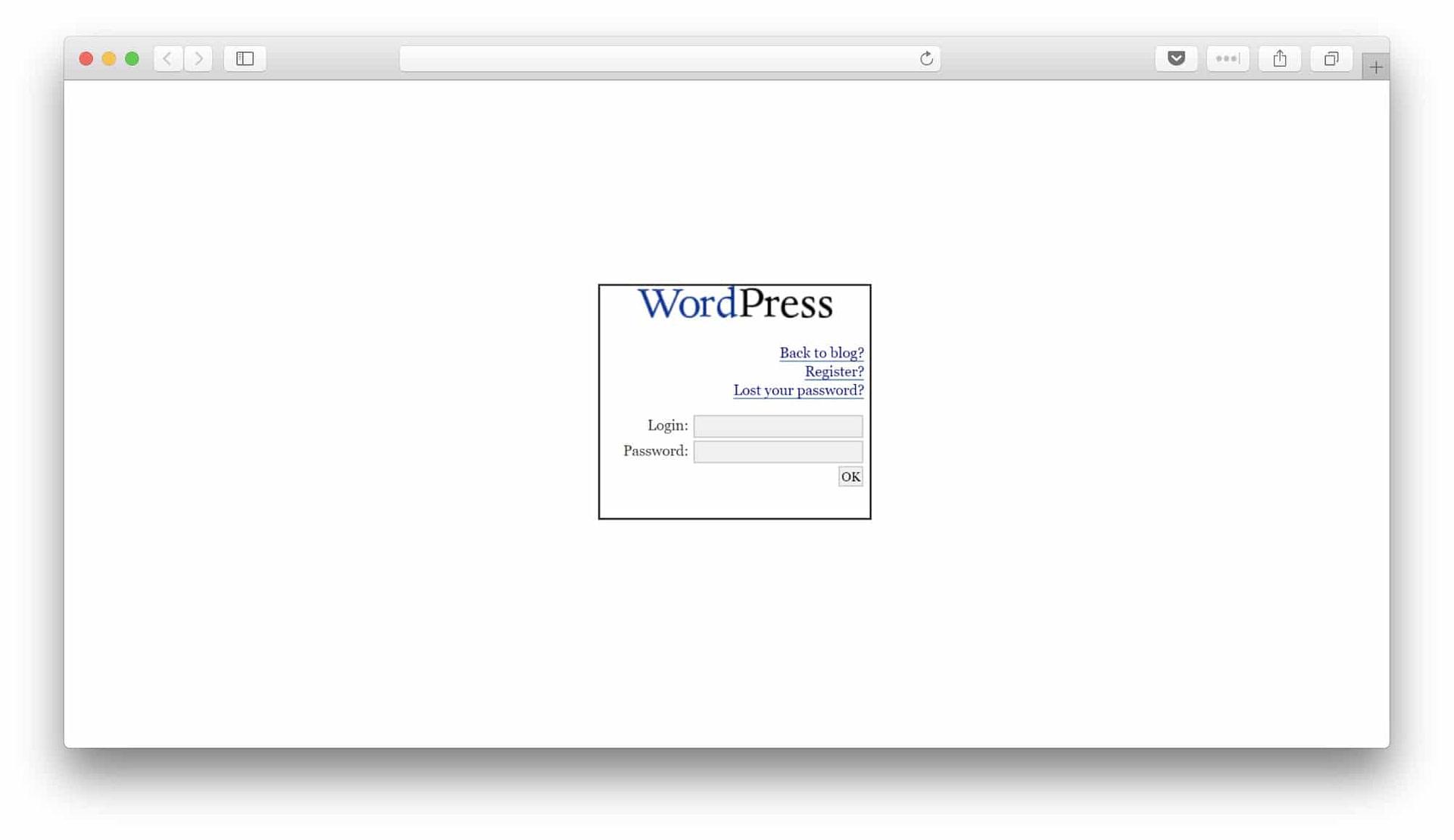 WordPress 1.2 LOGIN