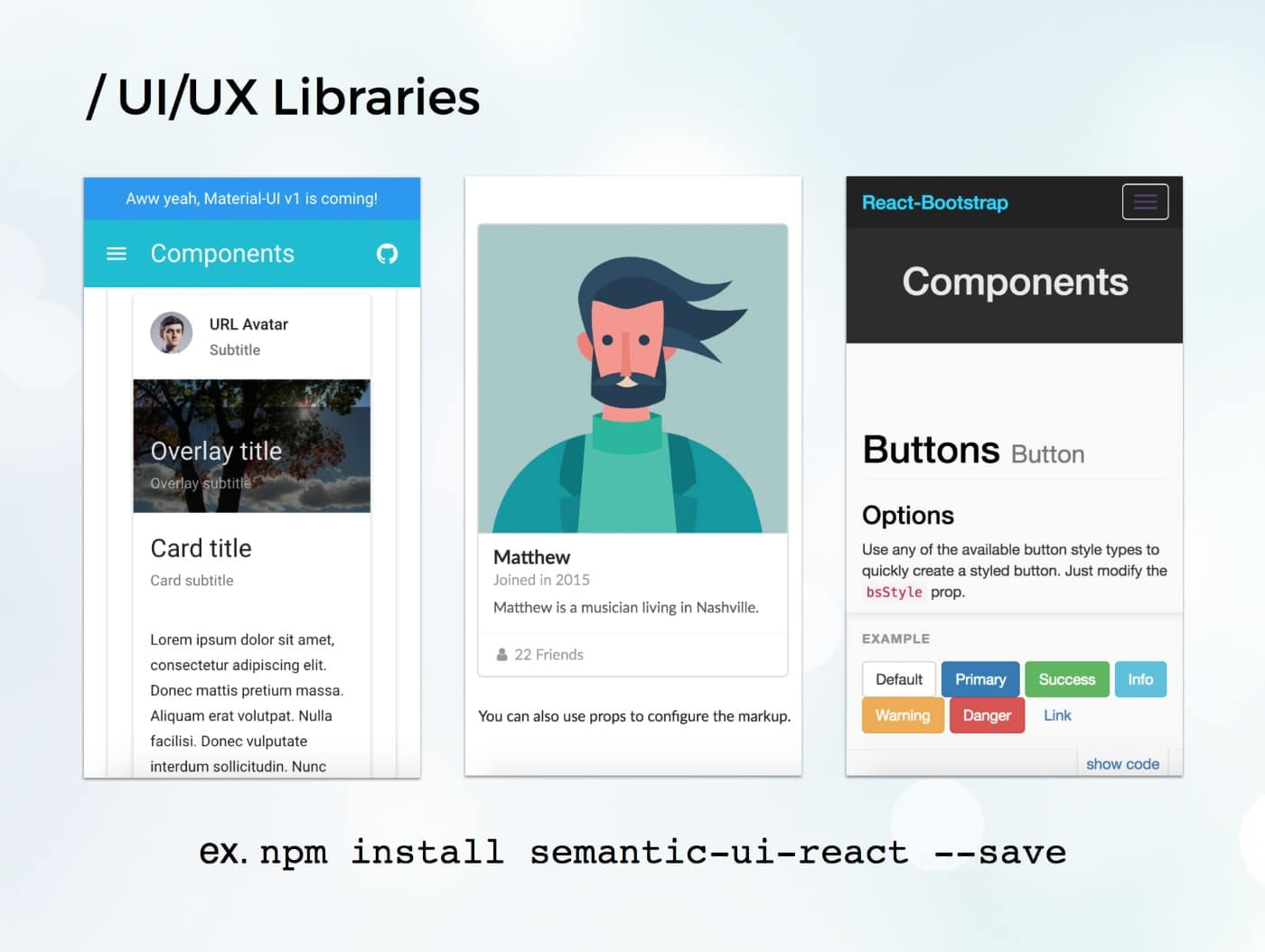 example e-commerce app