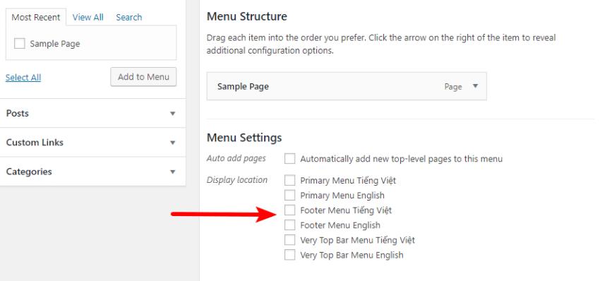 creating separate menus in polylang