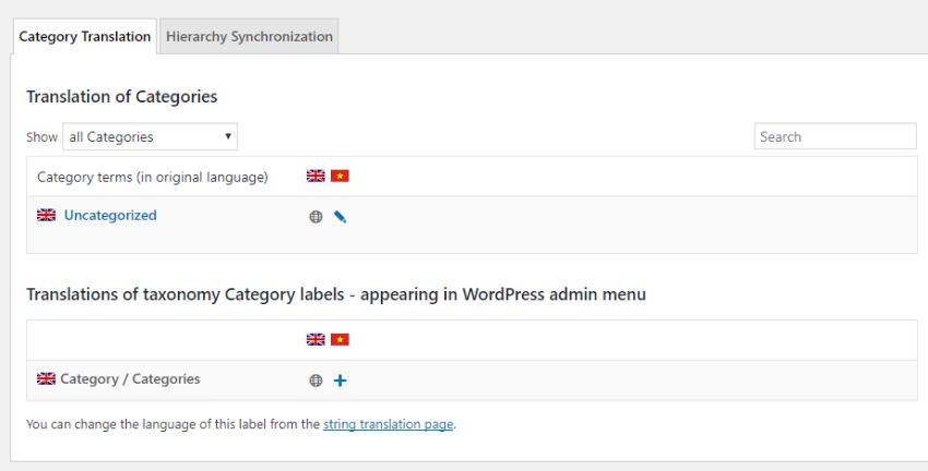 translate wordpress taxonomies