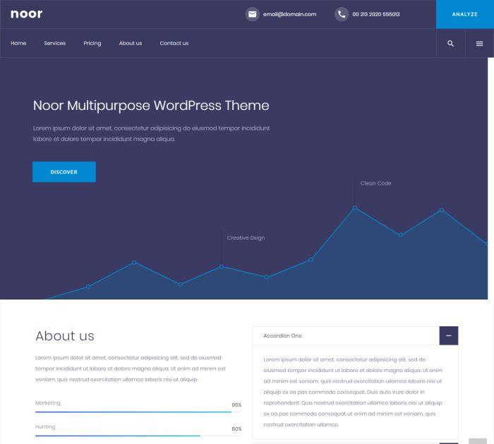 SEO friendly WordPress themes: Noor