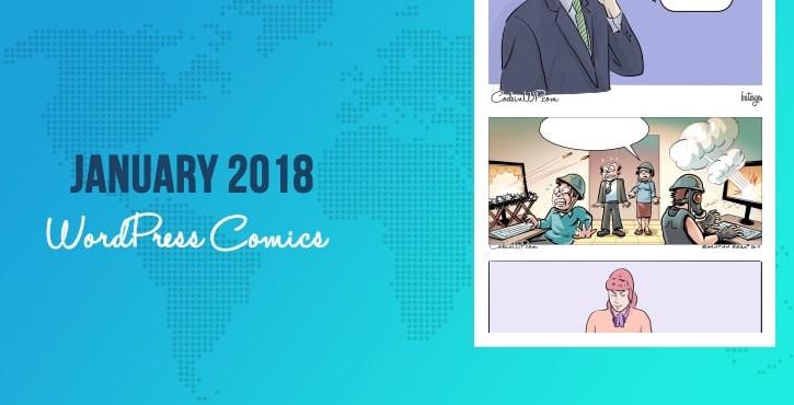 January 2018 WordPress comics