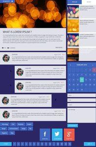 Blog Magazine UI Kit on mobile