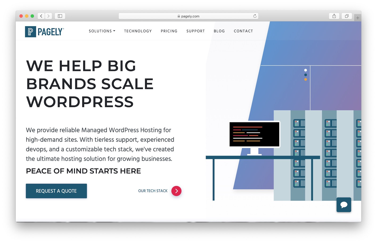 expensive managed WordPress hosting example from Pagely