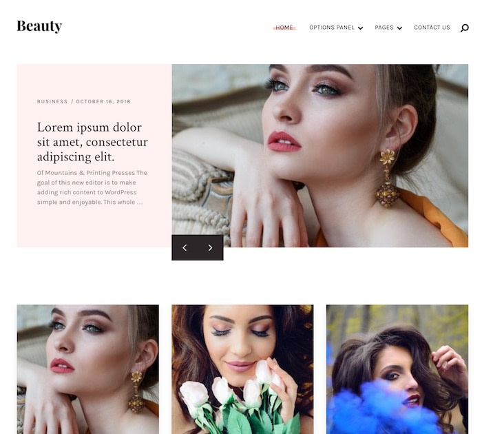 Best free WordPress themes for writers: Beauty