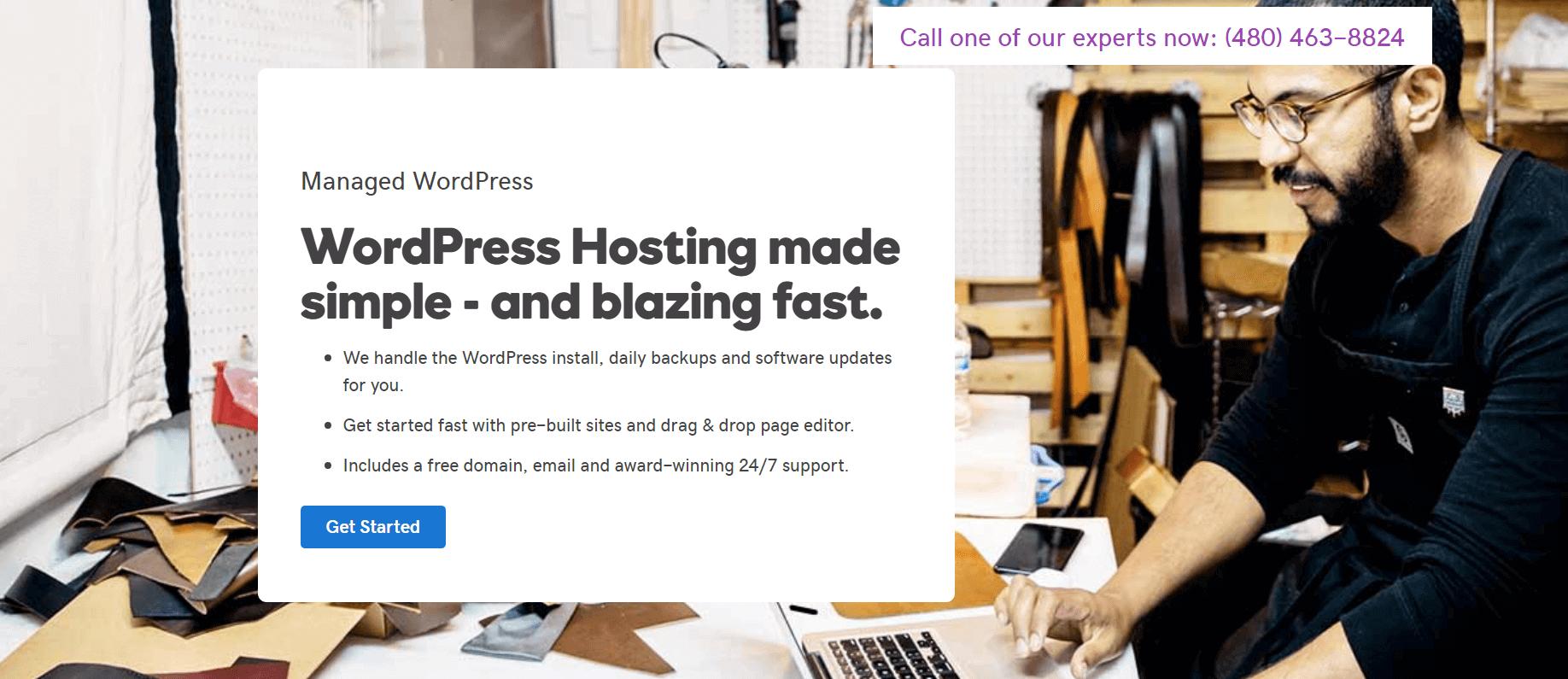 GoDaddy's WordPress hosting.