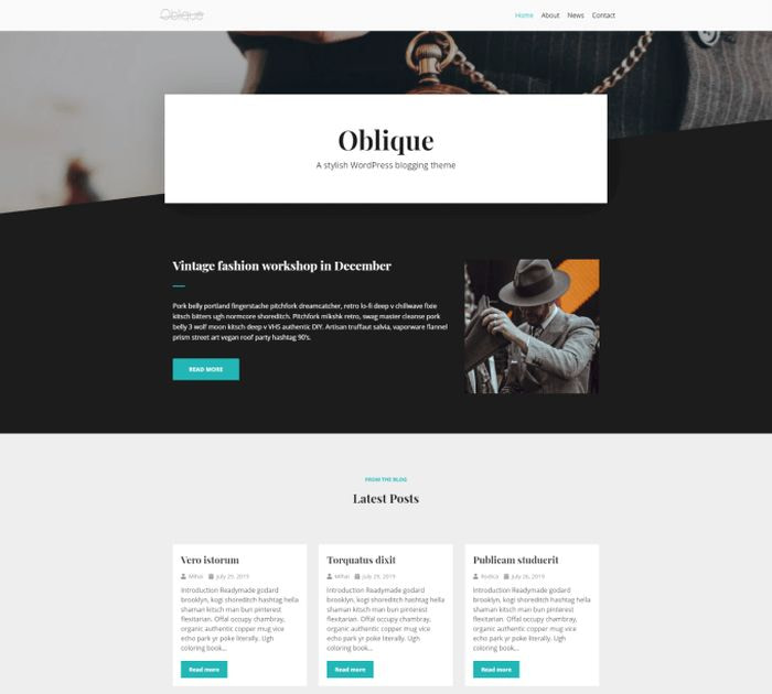 Best free WordPress themes for writers: Neve Vintage