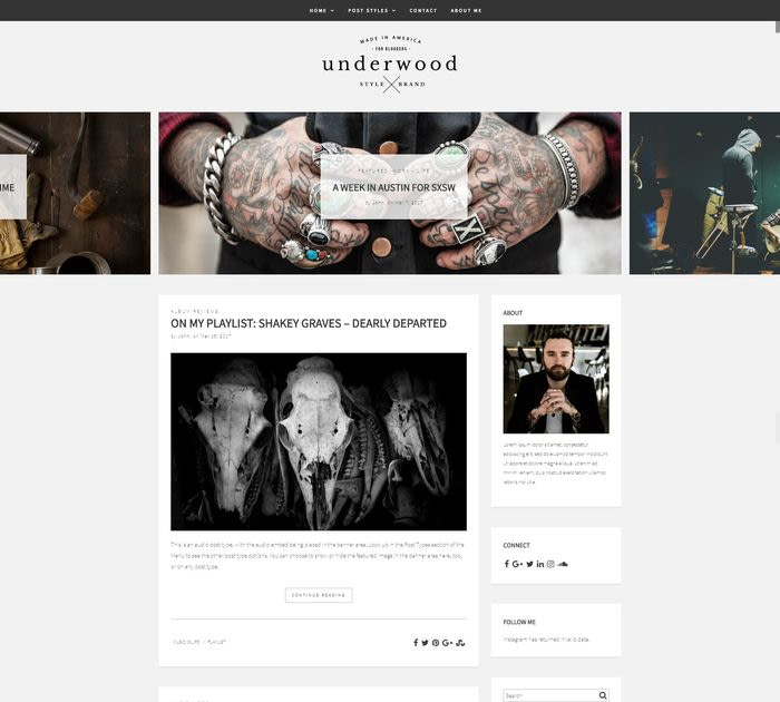 Best free WordPress themes for writers: Underwood