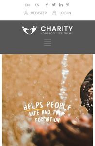 Charity Foundation on mobile