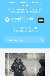 Charity Hub on mobile