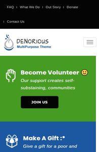 Denorious on mobile