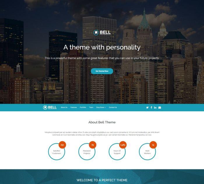 Best Bootstrap 4 templates: Bell