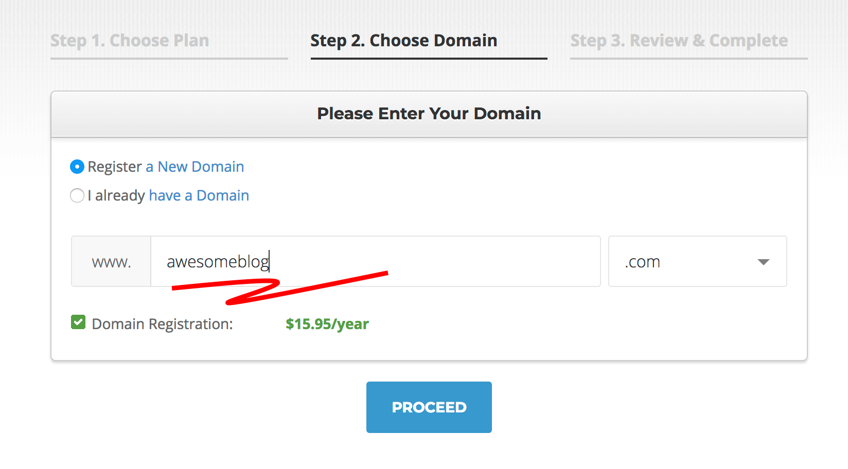 blog domain name