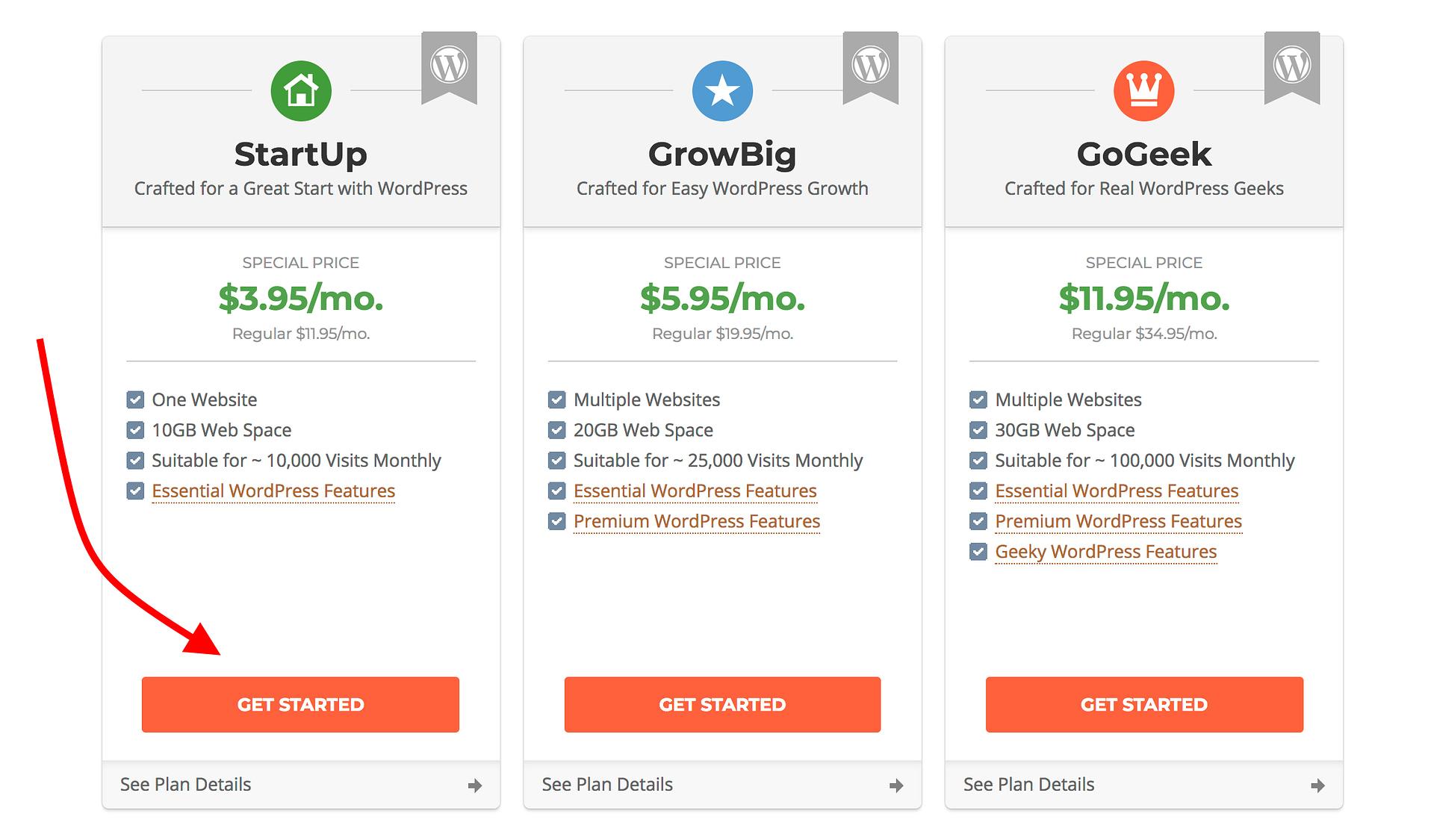 hosting choose