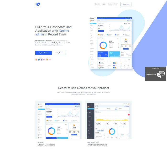 Best Bootstrap 4 templates: Xtreme Admin