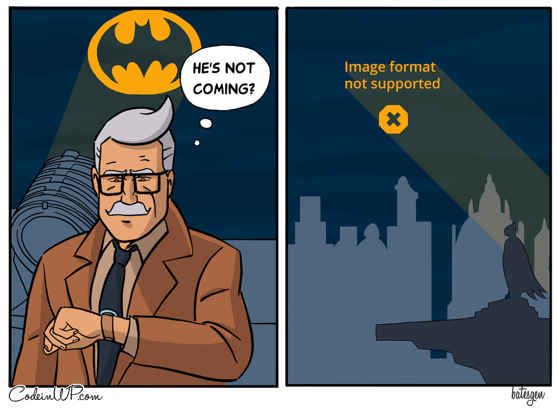 batsignal img not supported