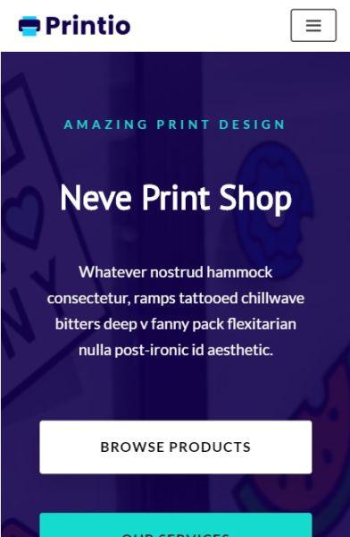 Print Shop on mobile