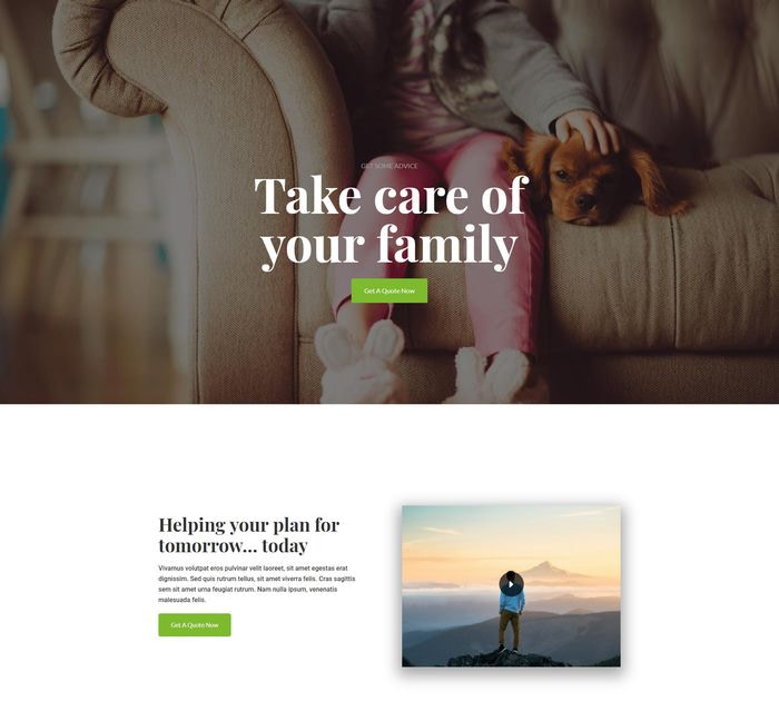 An Insurance Homepage
