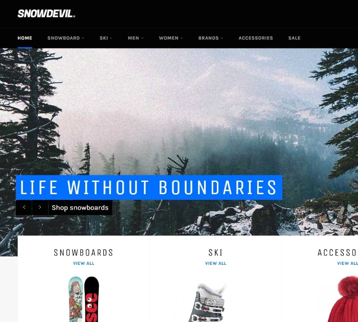 Best Free Shopify Themes: Venture