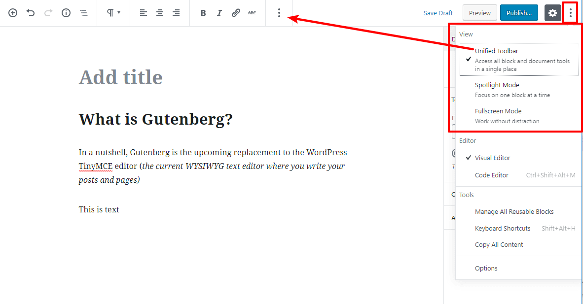 Gutenberg views