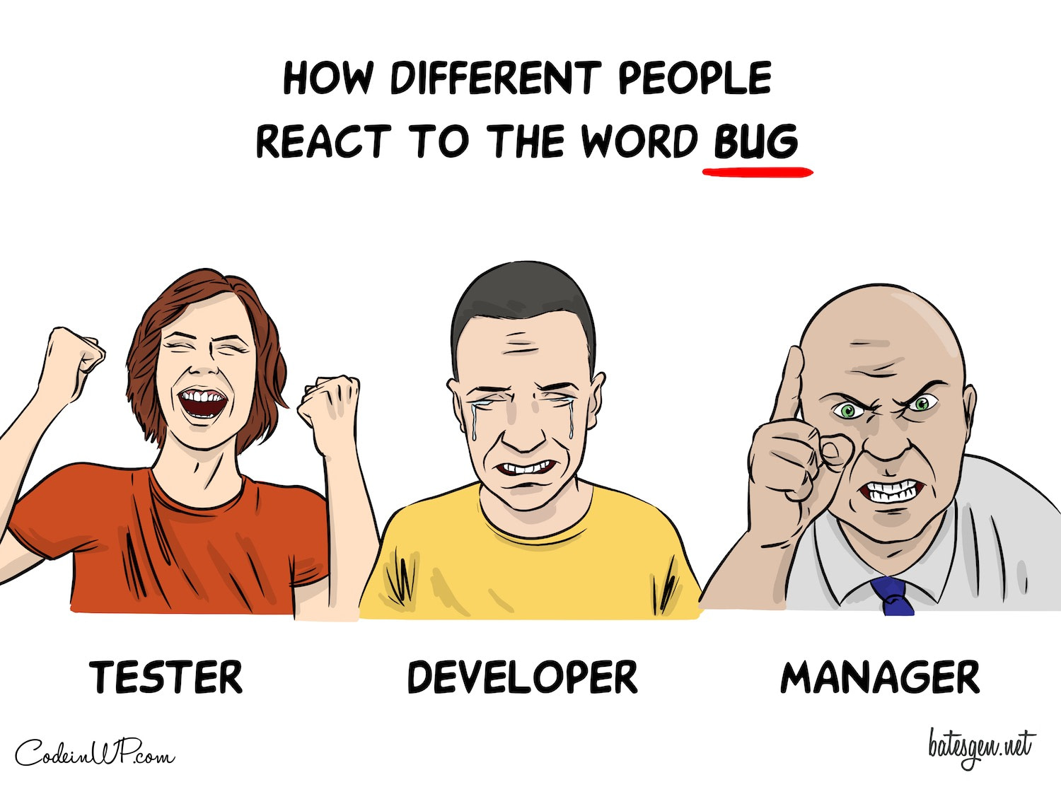 True personalities are revealed when a bug slips into the codebase