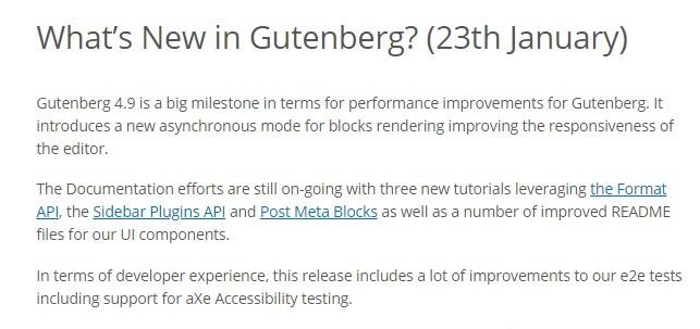 what's new in gutenberg blog post
