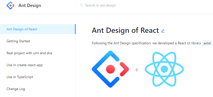 Ant Design for React