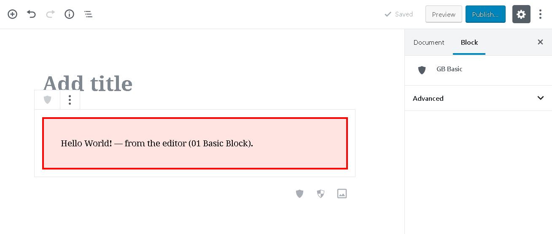 block in action