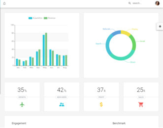 Material Design React Admin view
