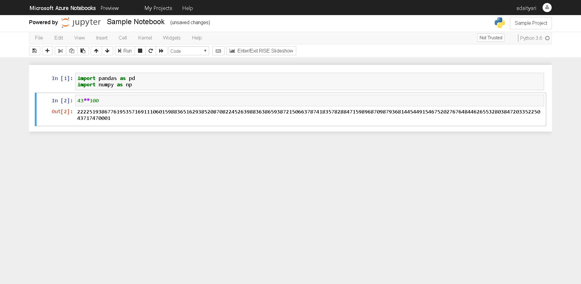 Jupyter Notebook on Azure