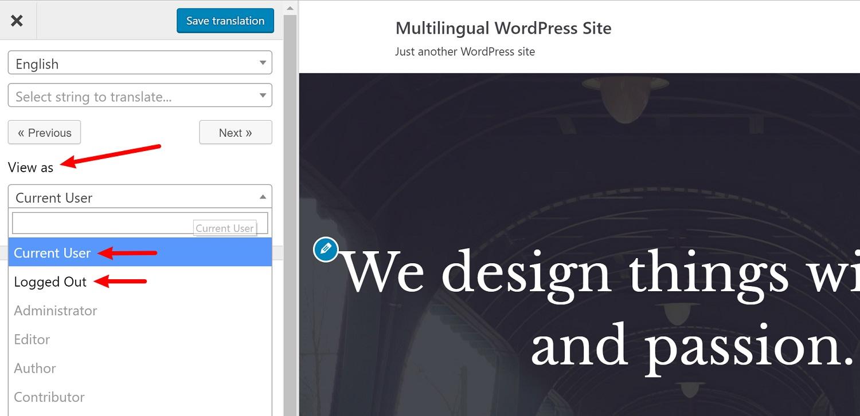Edit WordPress multilingual content